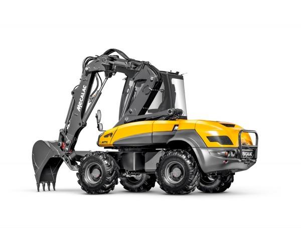 Excavator multifunctional pe pneuri Mecalac 12 MTX