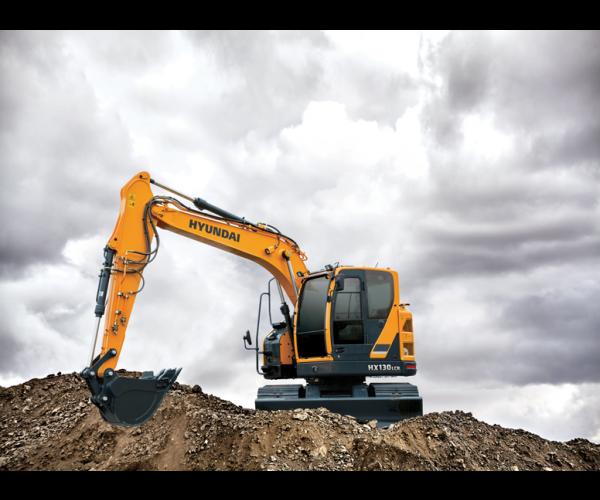 Excavator pe senile Hyundai HX 130