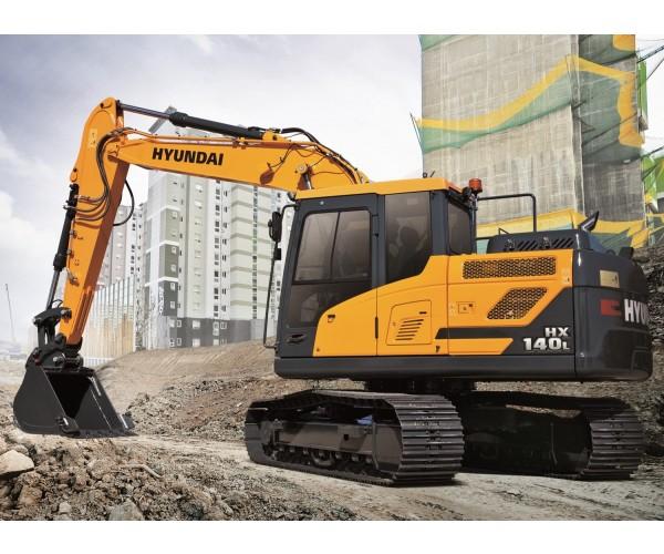 Excavator pe senile Hyundai HX 140